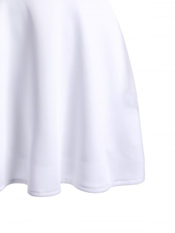 Trendy Women's Plunging Neckline White See-Through Blouse от Rosegal.com INT