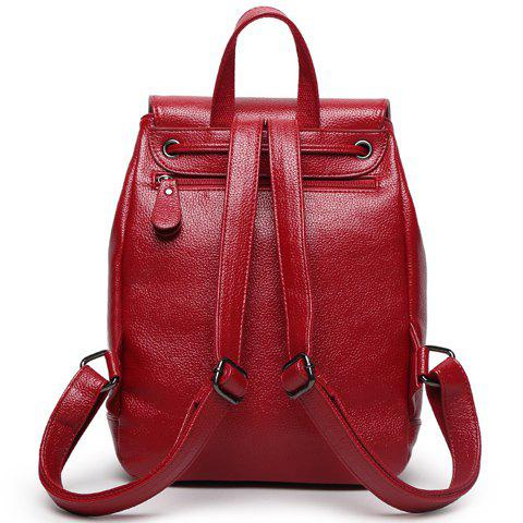 New Fashion Solid Color and Drawstring Design Satchel For Women - BROWN  Mobile
