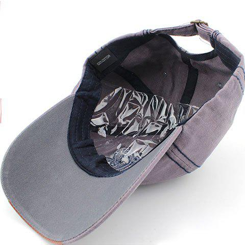 Shops Stylish Sewing Thread and Retro Letters Shape Embellished Visor For Men - GRAY  Mobile