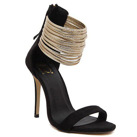 Hot Stylish Zip and Suede Design Sandals For Women