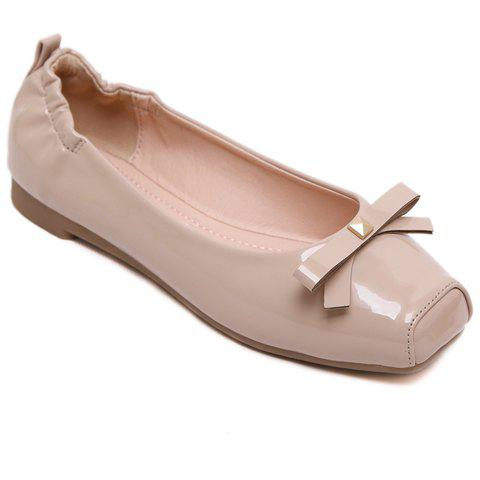 Shops Sweet Bowknot and Square Toe Design Flat Shoes For Women
