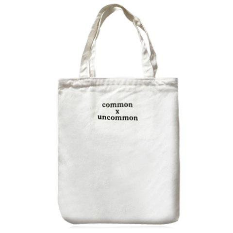 Concise Letter Print and Canvas Design Shoulder Bag For Women - WHITE