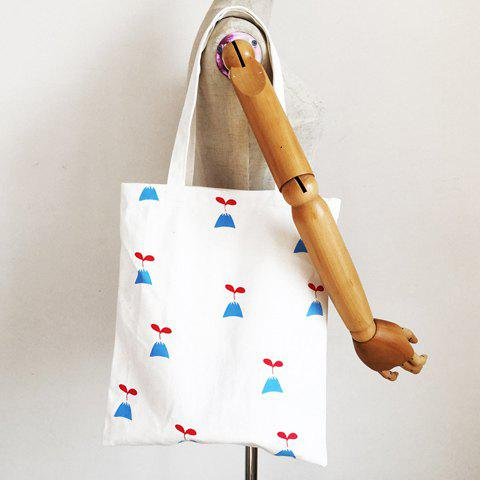 Store Simple Printed and White Design Shoulder Bag For Women