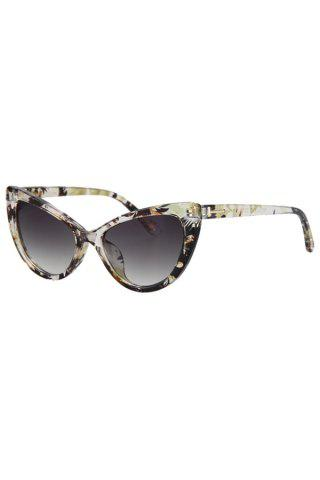 Hot Audrey Hepburn Cat Eye Inlay Flower Sunglasses LIGHT YELLOW
