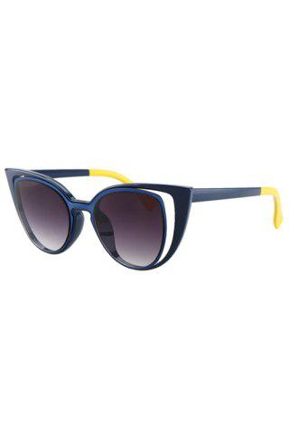 Chic Chic Hollow Out Frame Color Block Sunglasses For Women