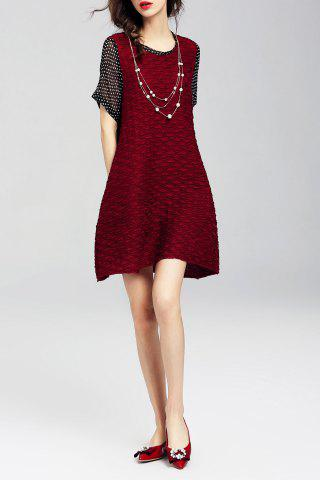 Sale Polka Dot Spliced Mini Dress