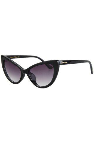 Chic Chic Letter T Shape Inlay Sunglasses For Women BLACK