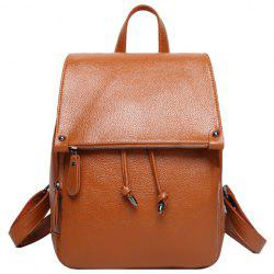 Fashion Solid Color and Drawstring Design Satchel For Women