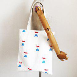 Simple Printed and White Design Shoulder Bag For Women -