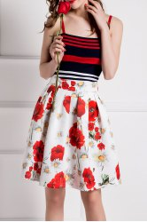Striped Tank Top and High Waisted Skirt Twinset -