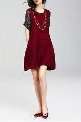 Polka Dot Spliced Mini Dress -