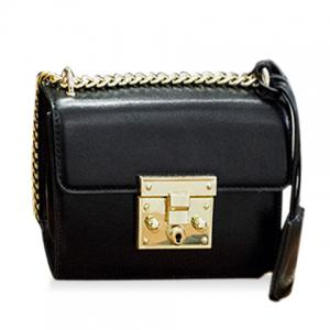 Stylish Hasp and Black Design Crossbody Bag For Women