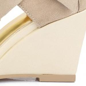 Stylish Bow and Zipper Design Sandals For Women -