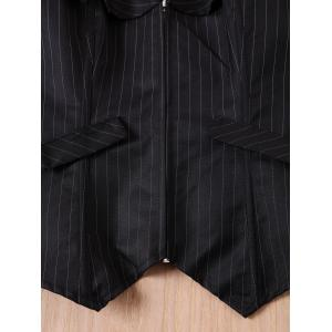 Sexy Striped Back Lace-Up Zippered Corset For Women - BLACK M