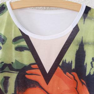 Portrait Print Short Sleeve T-Shirt -
