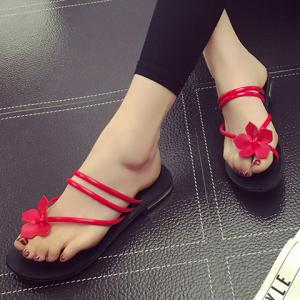 Leisure Flower and Solid Color Design Slippers For Women -
