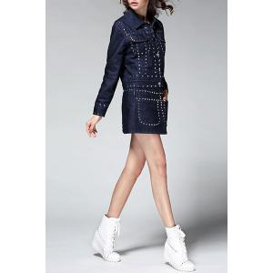 Studded Denim Jacket and Mini Skirt -