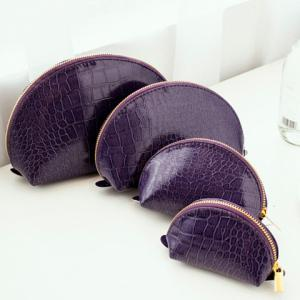 Stylish Solid Color and Crocodile Print Design Clutch Bag For Women -