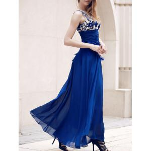 Stunning Sleeveless See-Through Maxi Formal Dress
