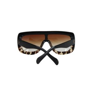 Chic Black Match Leopard Wrap Sunglasses For Women -