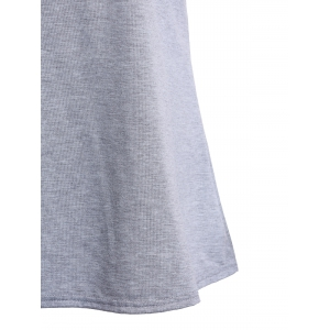Fashionable Scoop Neck Short Sleeves Letter Print Tee For Women -