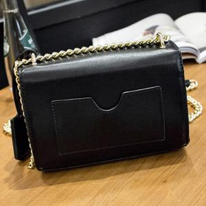 Stylish Hasp and Black Design Crossbody Bag For Women -