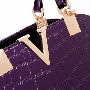 Fashionable Embossing and Metal Design Tote Bag For Women -