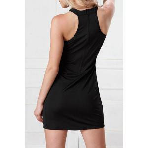 Fashionable Sleeveless See-Through Over Hip Body Bandage Dress - BLACK ONE SIZE(FIT SIZE XS TO M)