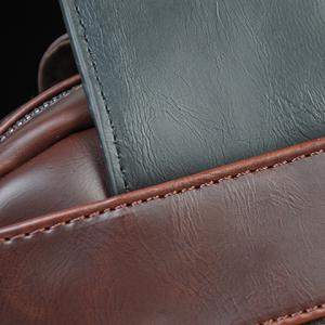 Leisure Colour Matching and PU Leather Design Messenger Bag For Men -