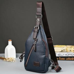 Trendy Buckle and Magnetic Closure Design Messenger Bag For Men -