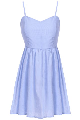 Cute Spaghetti Strap Solid Color Sundress