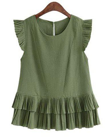 New Pleated Layered Top