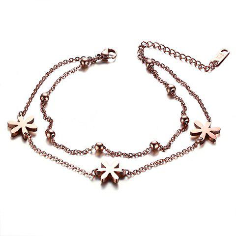 Latest Stylish Multilayer Flower Bead Anklet For Women