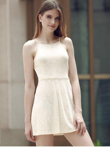Sale Alluring Spaghetti Strap Self-Tie Backless Women's Dress - 2XL OFF-WHITE Mobile