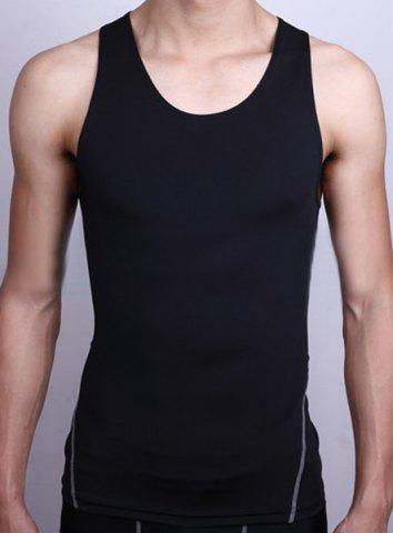 Outfits Brief Round Neck Slimming Quick-Dry Stretchy Tank Top For Men