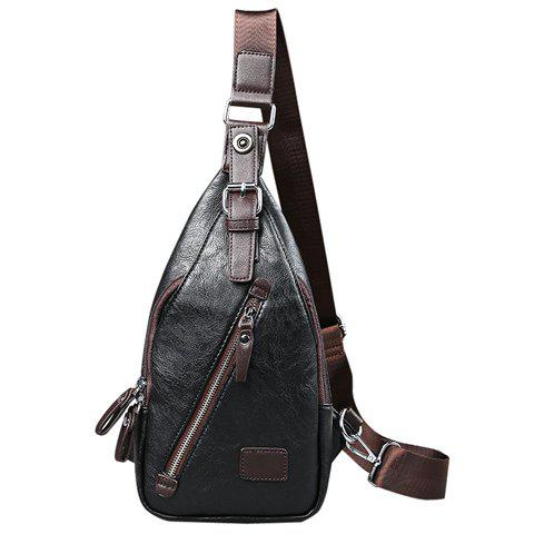 Chic Trendy Buckle and Magnetic Closure Design Messenger Bag For Men