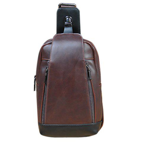 Affordable Leisure Colour Matching and PU Leather Design Messenger Bag For Men