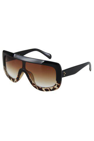 Shop Chic Black Match Leopard Wrap Sunglasses For Women