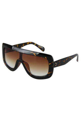 Discount Chic Leopard Wrap Sunglasses For Women BLACK