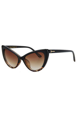 Audrey Hepburn Cat Eye Inlay Flecky Sunglasses - Black - 6xl
