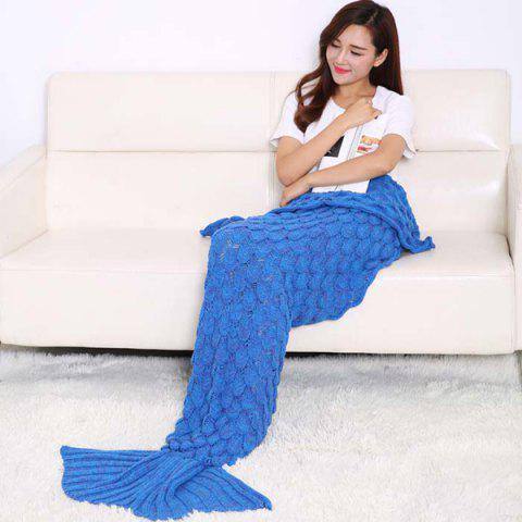 Online Fish Scale Design Knitting Sleeping Bag Mermaid Blanket