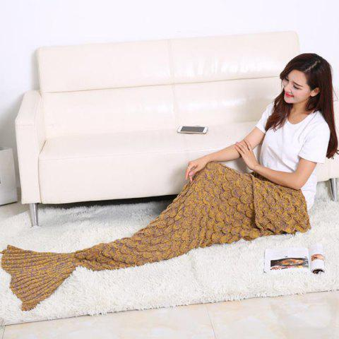 Outfit Fish Scale Design Knitting Sleeping Bag Mermaid Blanket GINGER