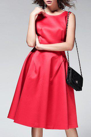 Best Pure Color Backless Dress