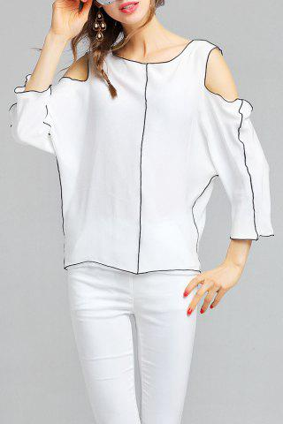 Affordable Batwing Sleeve Cut Out Blouse