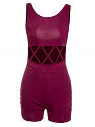 Alluring Scoop Neck Sleeveless Hollow Out Women's Romper -