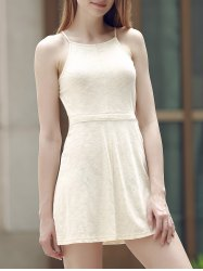Alluring Spaghetti Strap Self-Tie Backless Women's Dress
