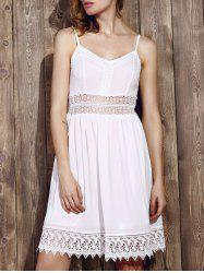 Strappy Lace Panel Going Out Flare Dress