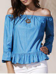 Off Shoulder Ruffle Peplum Blouse