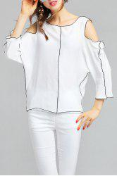 Batwing Sleeve Cut Out Blouse -