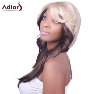 Charming Sexy Side Bang Heat-Resistant Fibre Long Wavy Synthetic Capless Women's Ombre Wig -